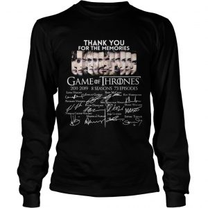 Thank you for the memories Game Of Thrones longsleeve tee