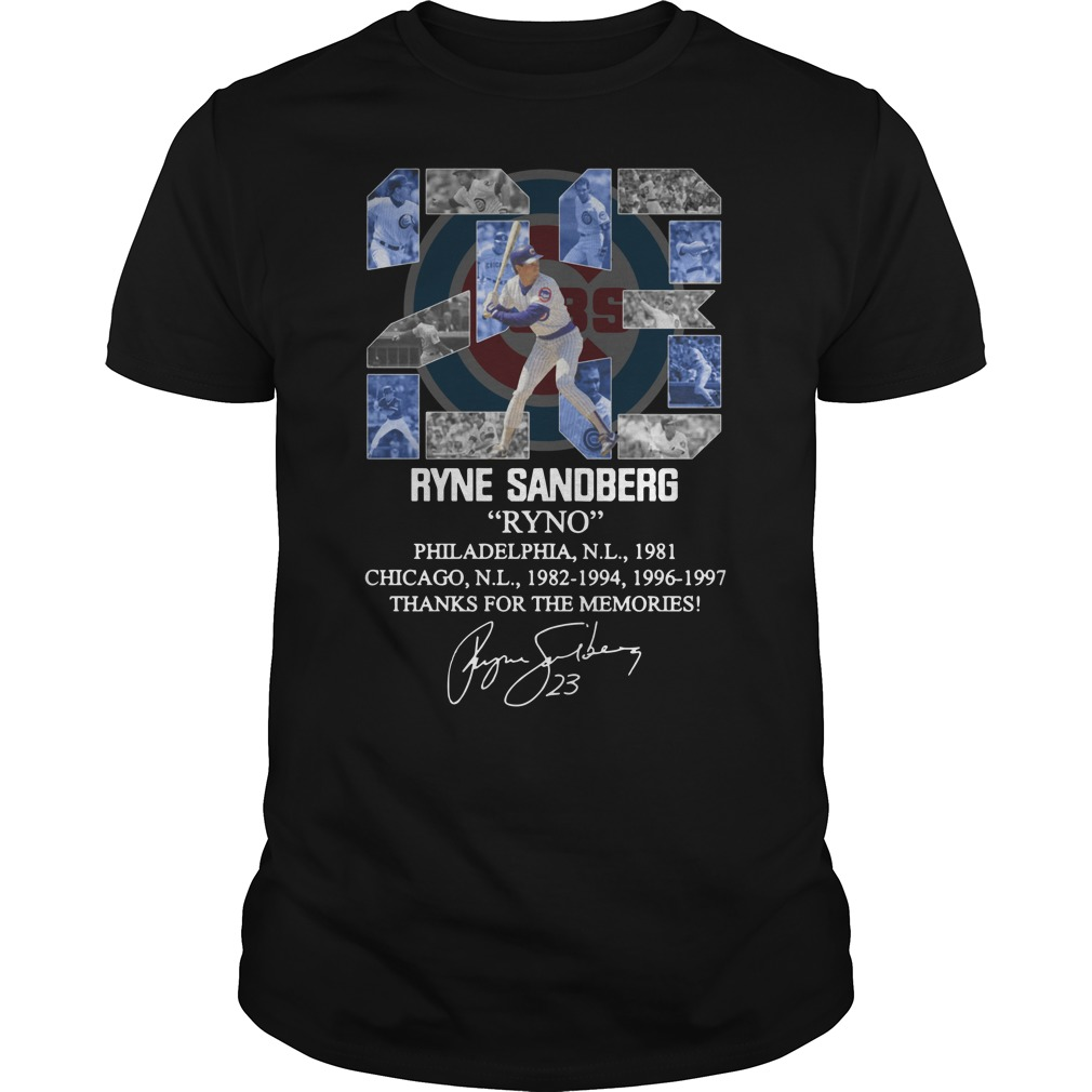 23 Ryne Sandberg Ryno thank for the memories Unisex