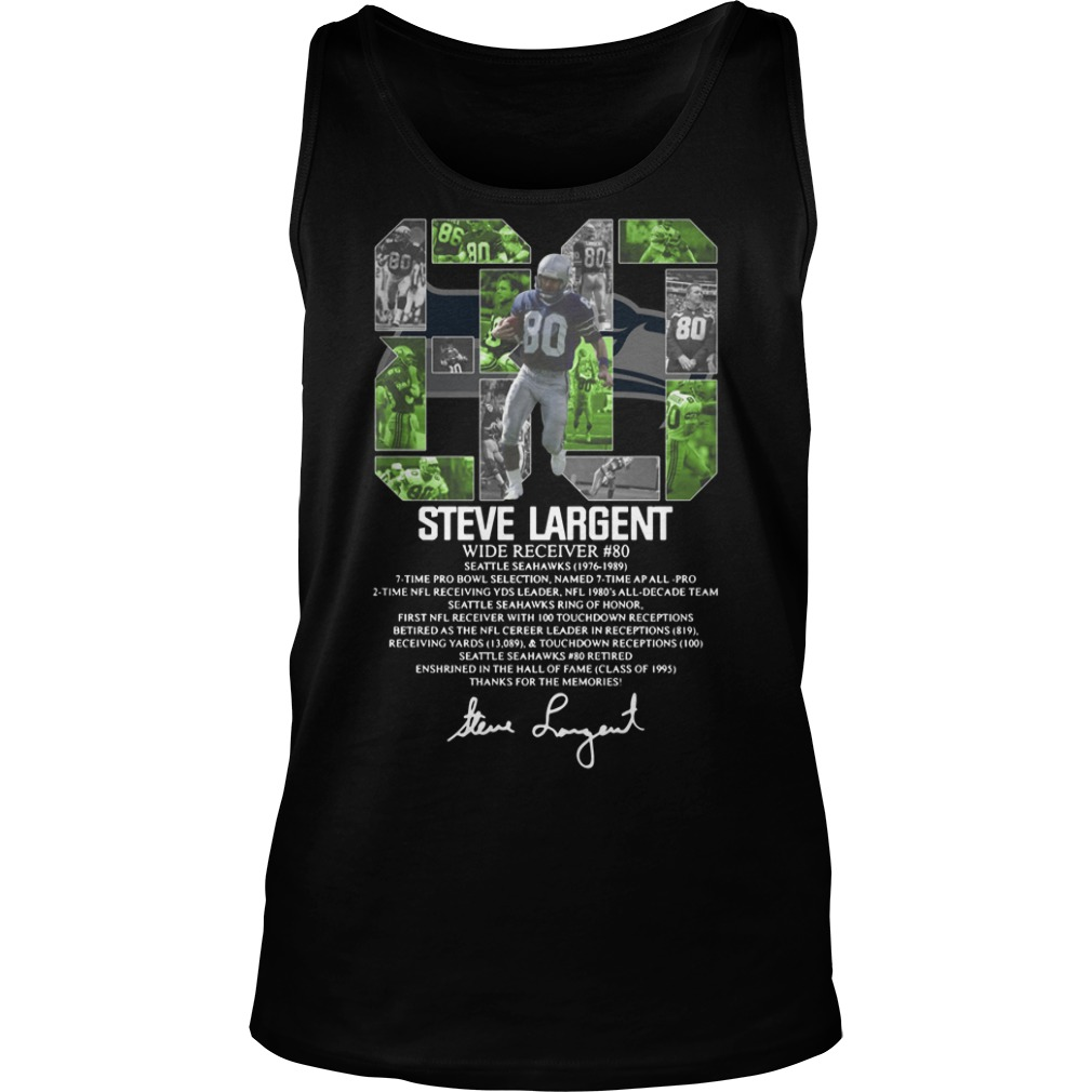 80 Steve Largent wide receiver signature Tank Top