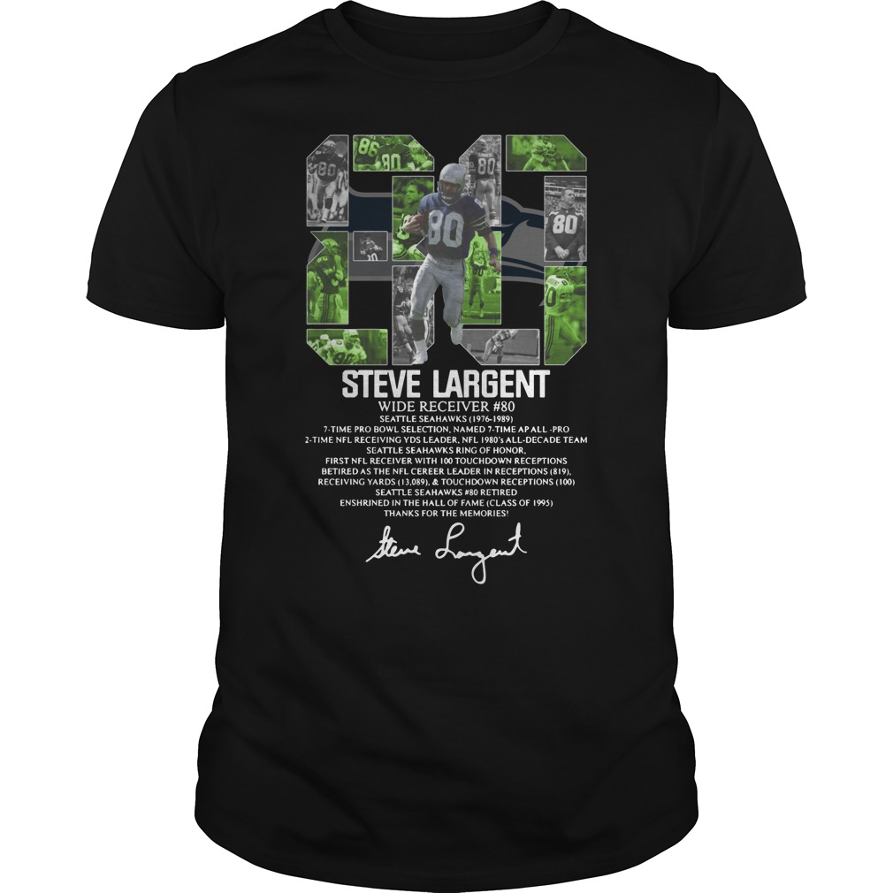 80 Steve Largent wide receiver signature Unisex