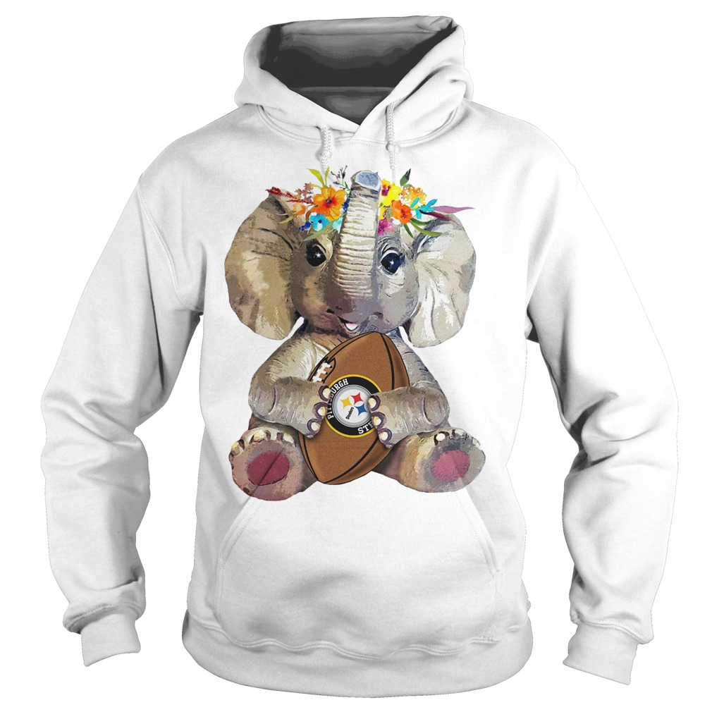 Elephant flower Pittsburgh Steelers Hoodie