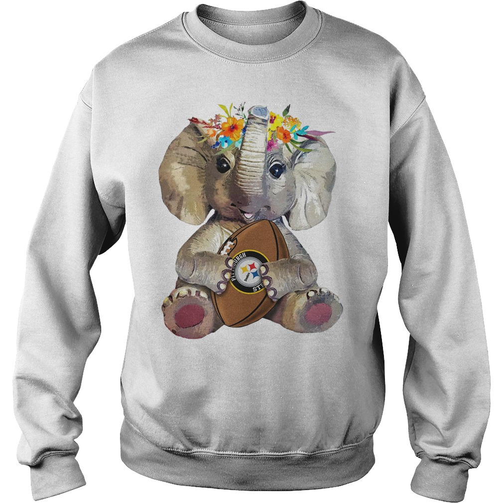 Elephant flower Pittsburgh Steelers Sweatshirt