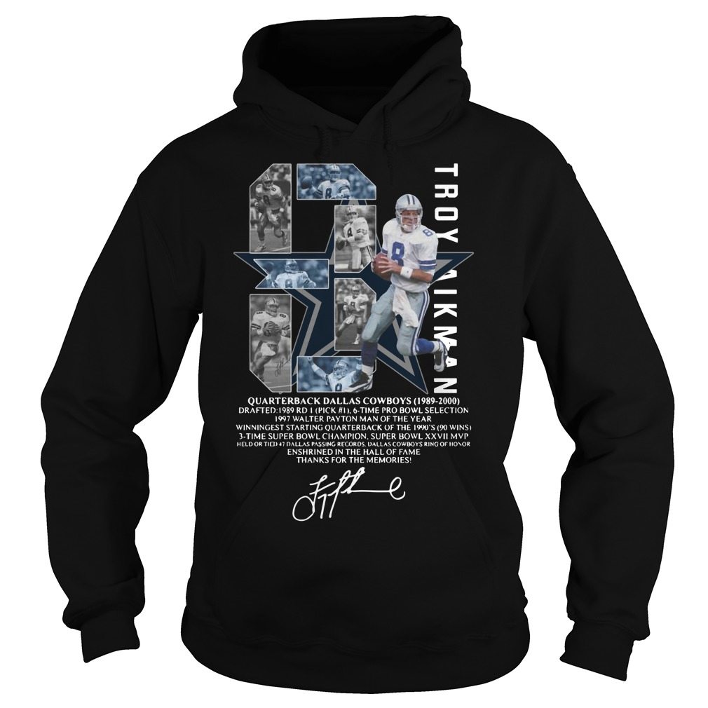 Troy Aikman 8 Quarterback Dallas Cowboys signature Hoodie