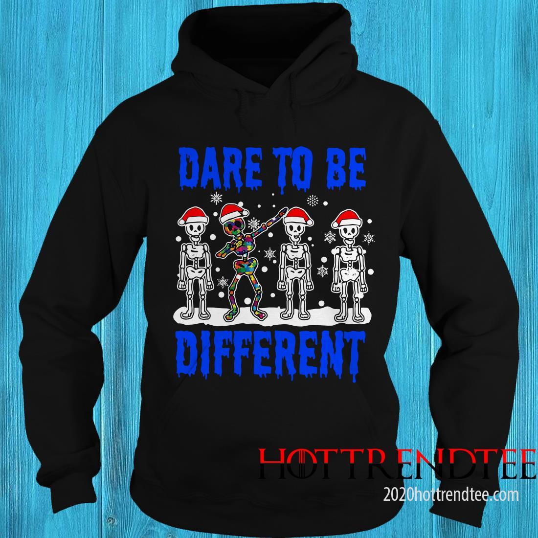 Skellington Santa Claus Dare To Be Different Christmas Sweatshirt