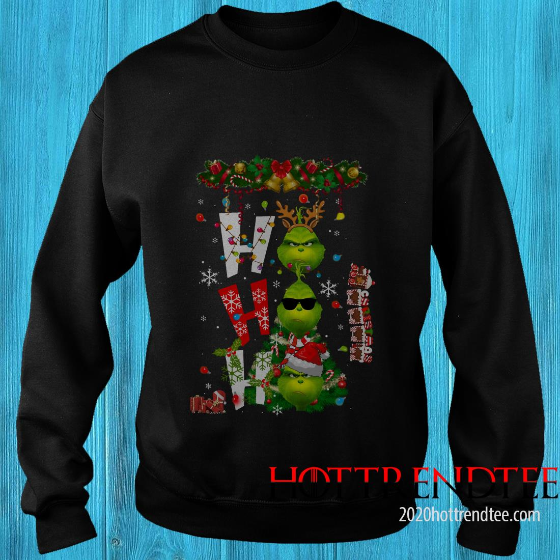 Grinch HO HO HO Christmas Sweatshirt