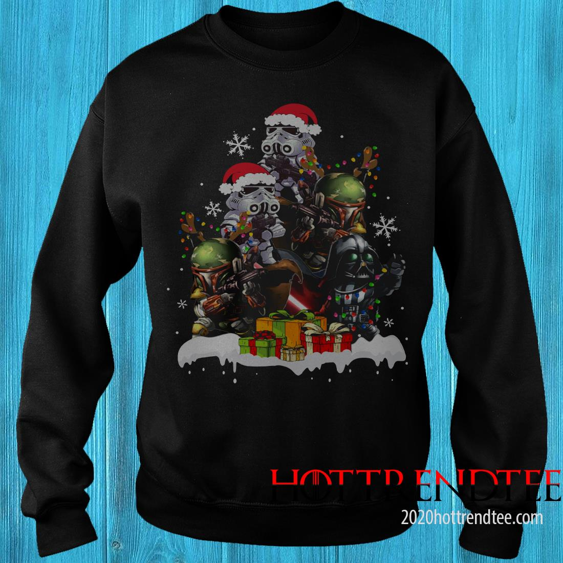 Star Wars Boba Fett Darth Vader Stormtrooper Boba Christmas Tree Sweatshirt