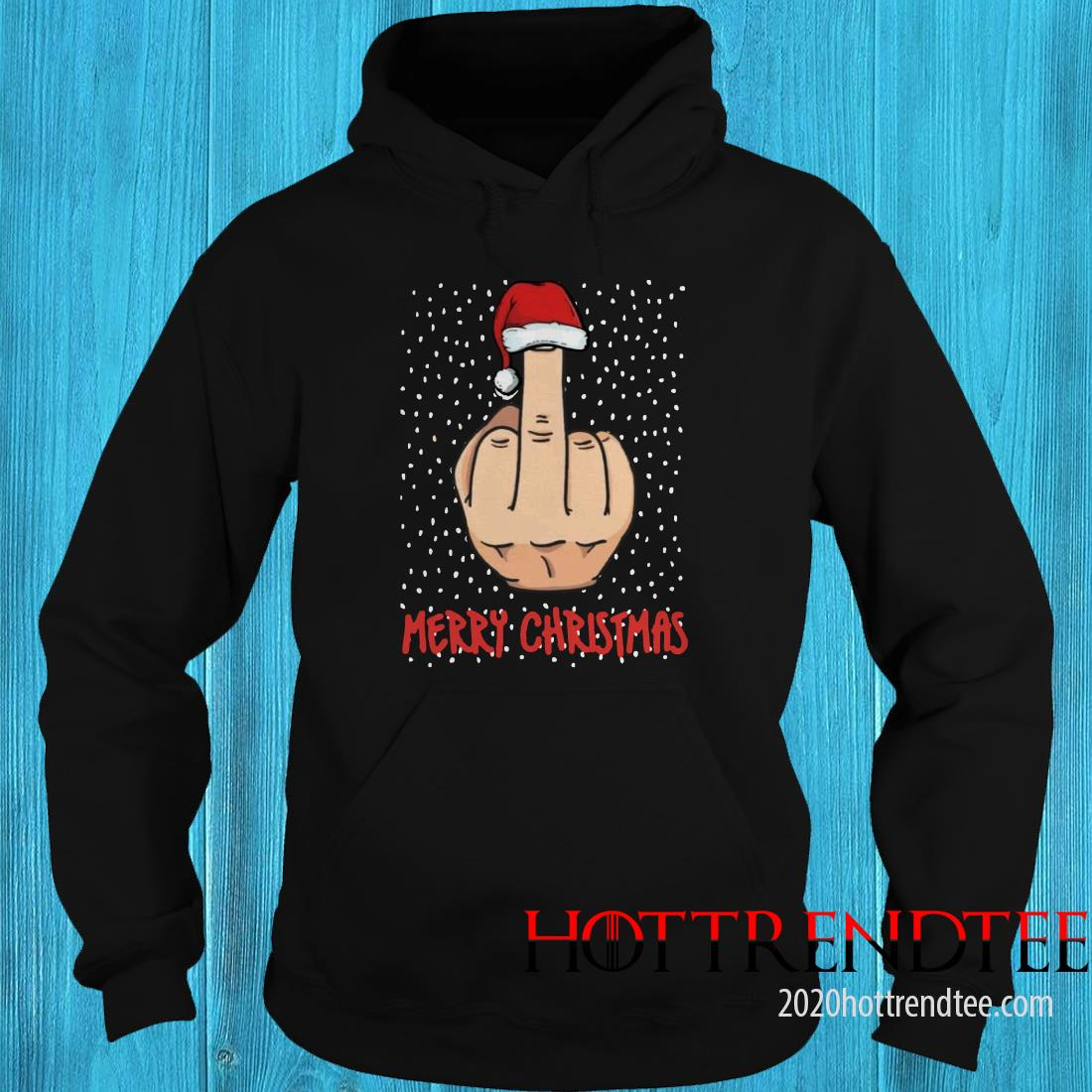 Merry Christmas The Middle Finger Digitus Impudicus Christmas Sweatshirt
