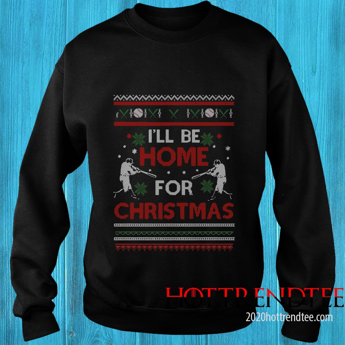 I'll Be Home For Christmas Disney Ugly Christmas Sweatshirt