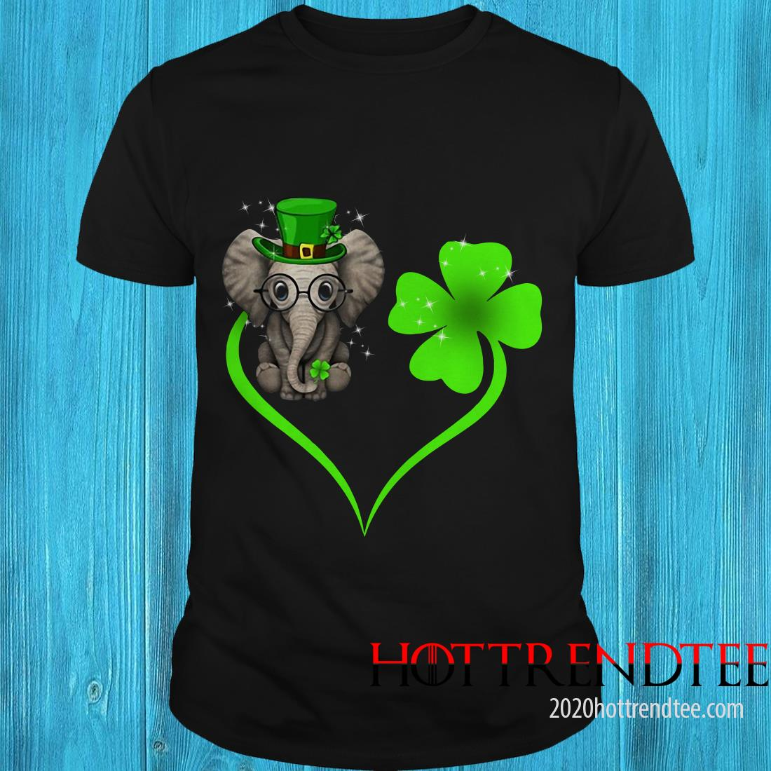 Elephant Heart Shamrock St Patrick's Day Shirt