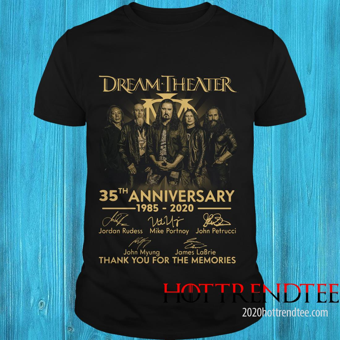 Dream Theater 35th 1985 2020 Anniversary Thank You For The Memories Signature Shirt
