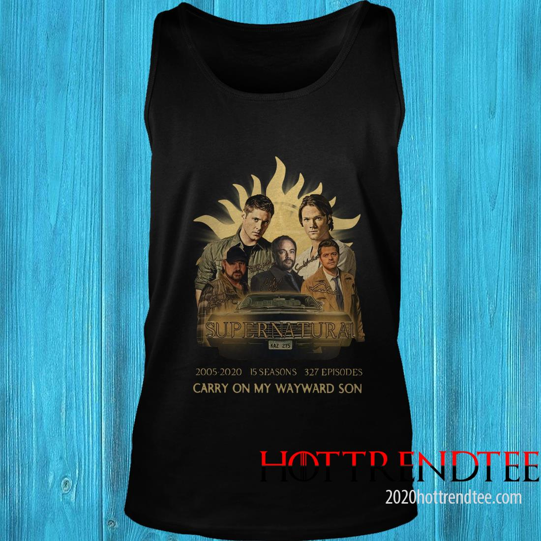 Supernatural 2005-2020 15 Seasons 327 Episodes Carry On My Wayward Son Tanktop