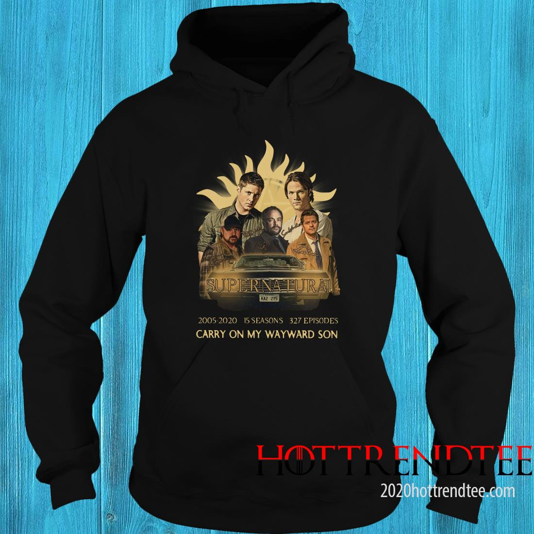 Supernatural 2005-2020 15 Seasons 327 Episodes Carry On My Wayward Son Hoodie