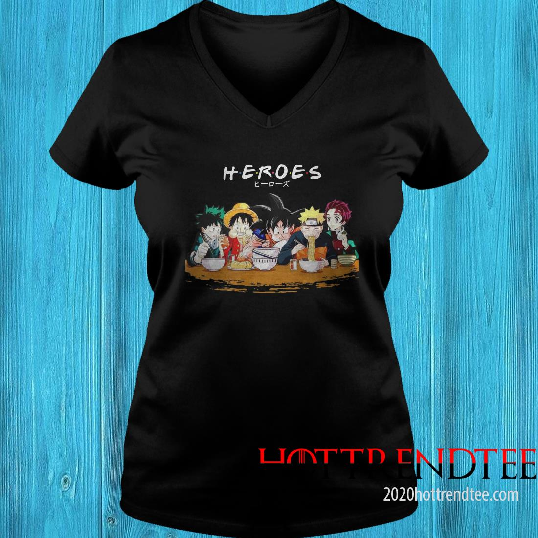 Mashup Heroes Characters Anime Eat Together Women's T-Shirt