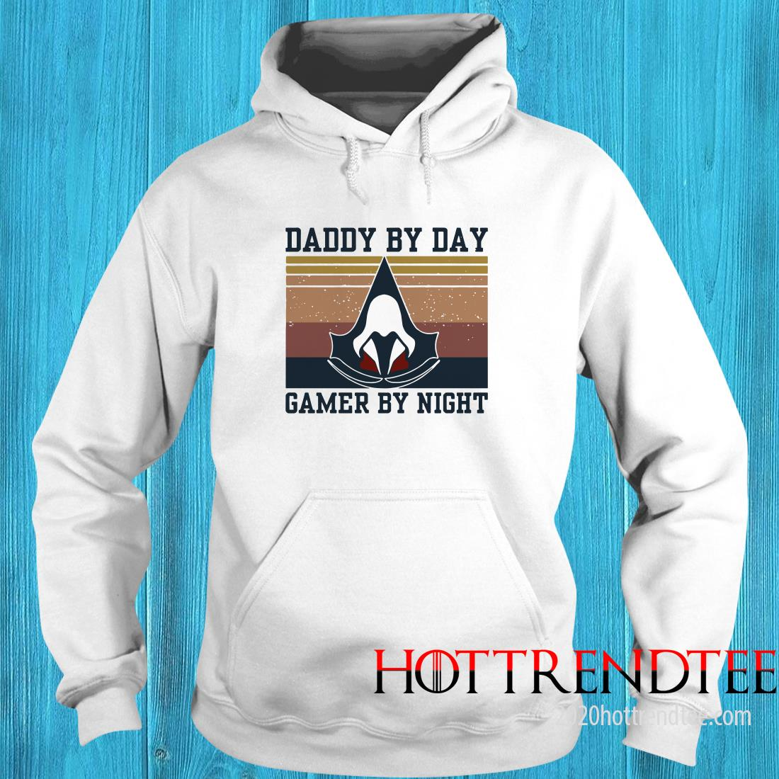 Assassin's Creed Daddy By Day Gamer By Night Vintage Version Hoodie