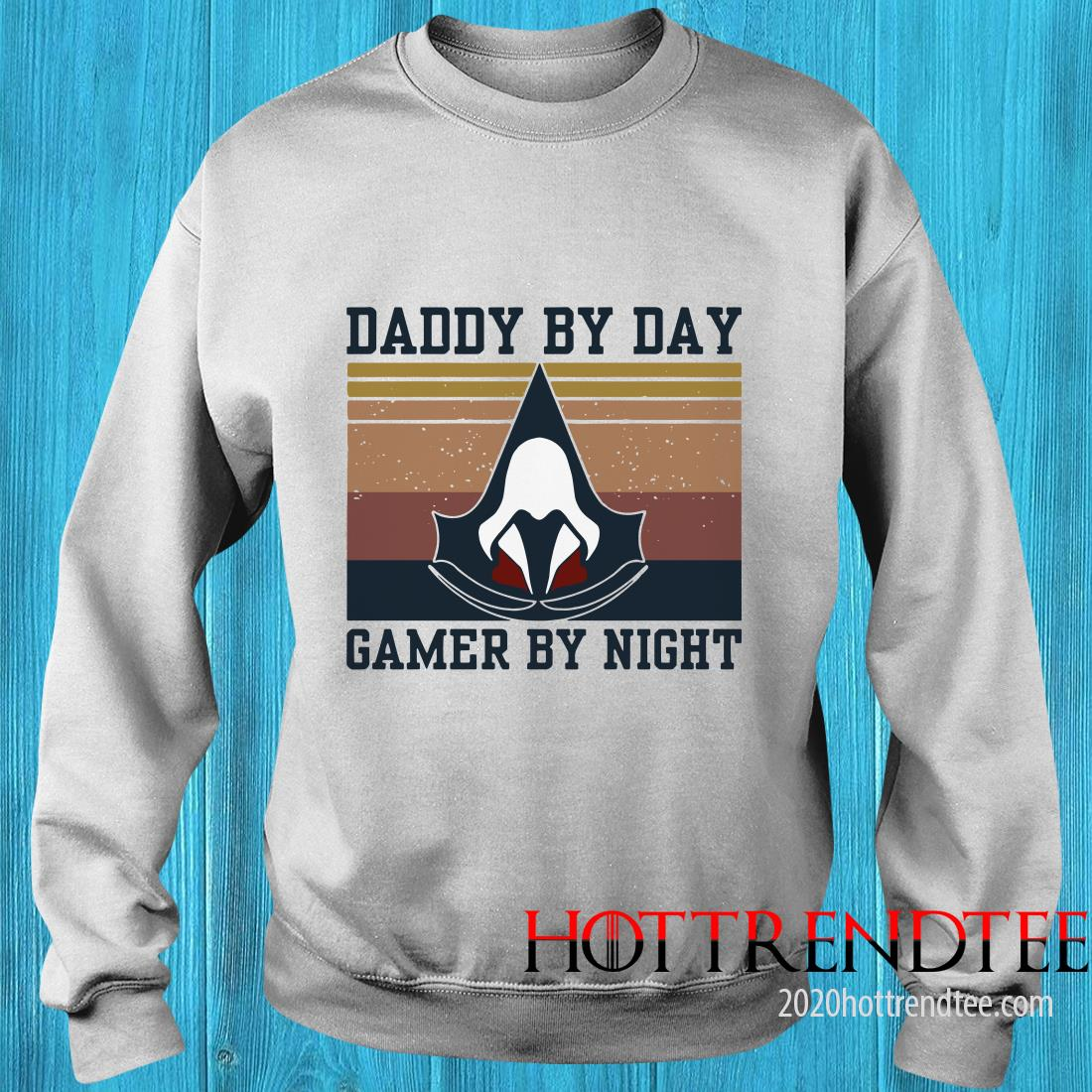 Assassin's Creed Daddy By Day Gamer By Night Vintage Version Sweatshirt