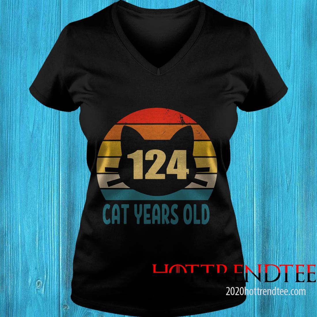 124 Cat Years Old Vintage Women's T-Shirt