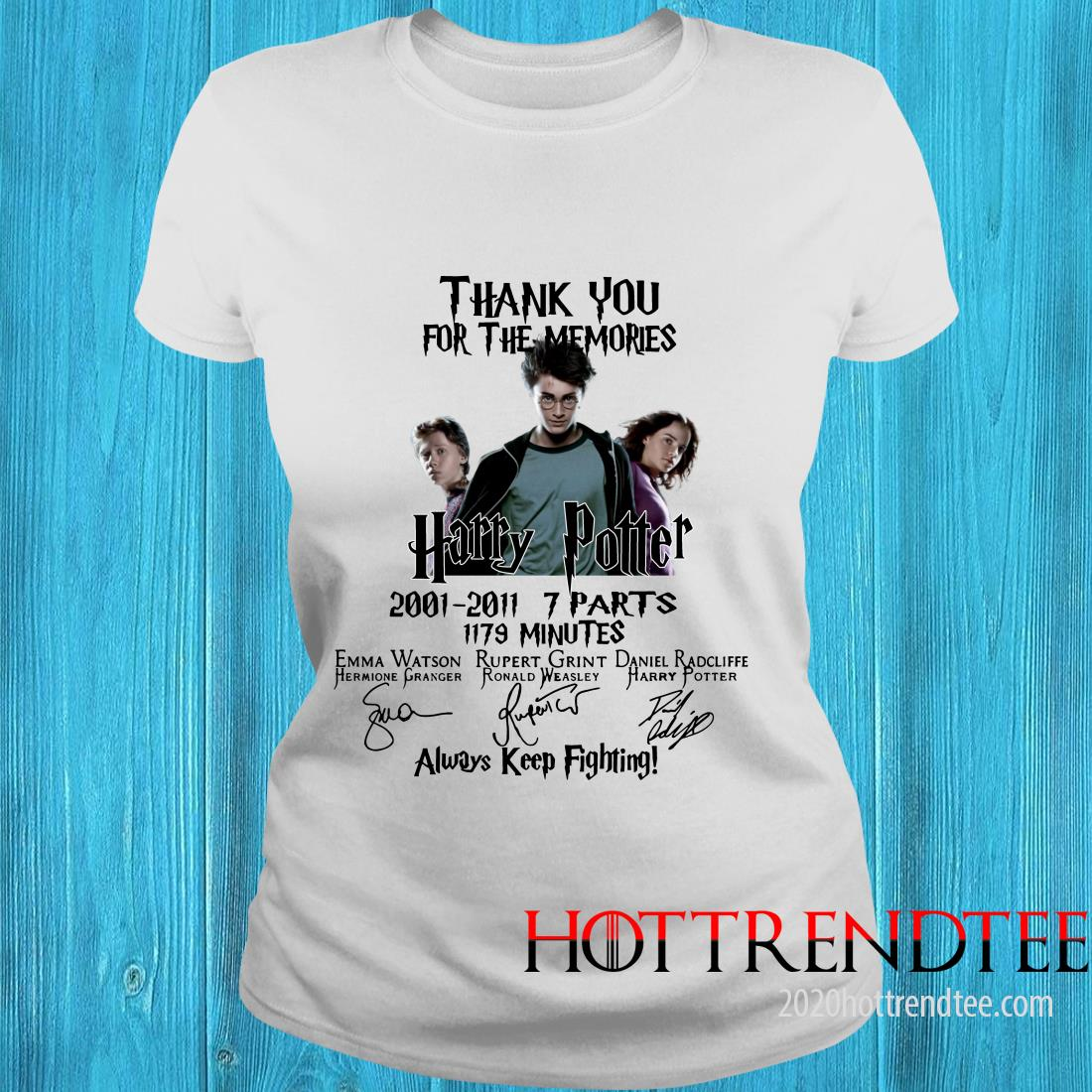 Official Thank You For The Memories Harry Potter Always Keep Fighting T Women's T-Shirt