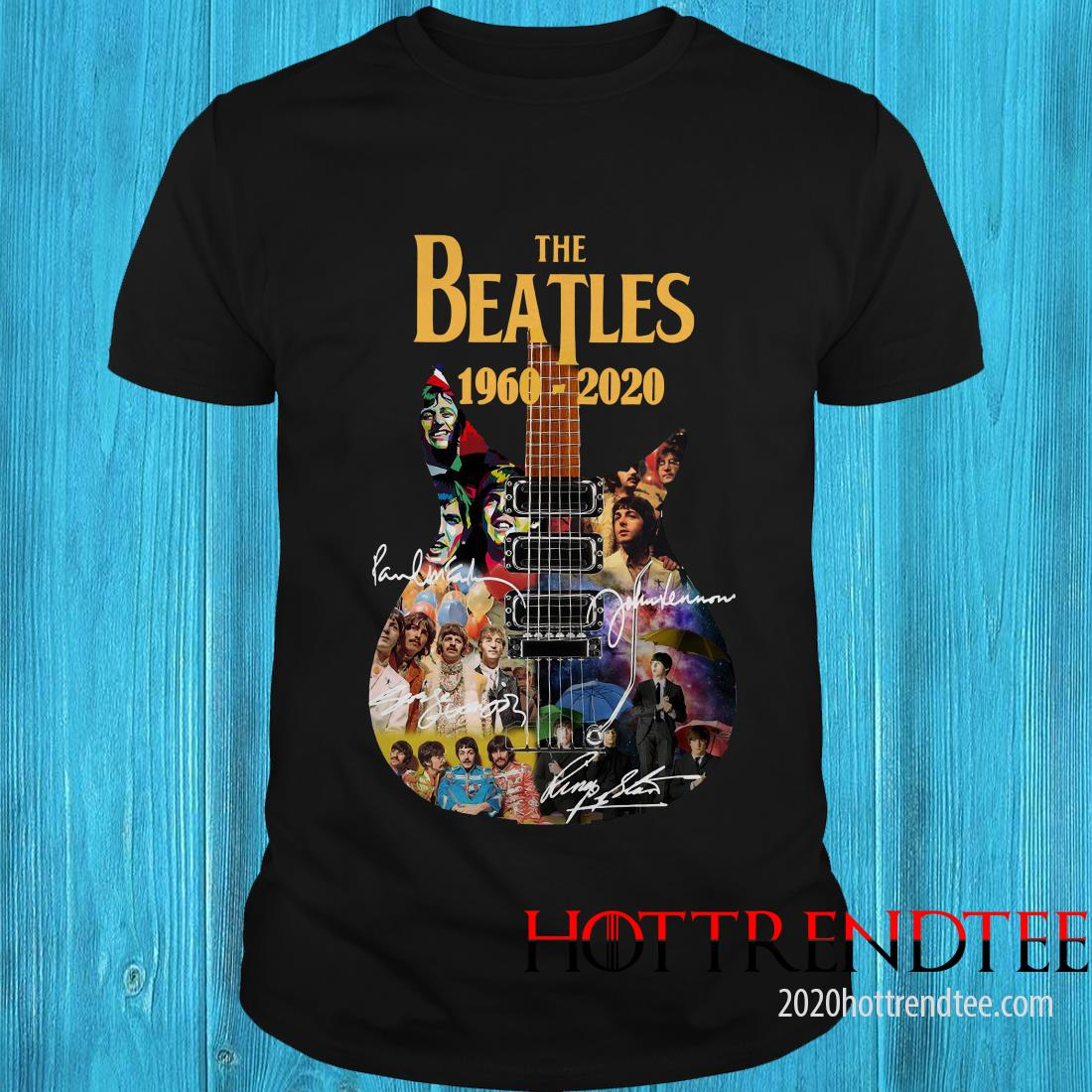 Official The Beatles 1960-2020 Guitar Shirt