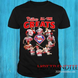 Official Philadelphia Phillies All-time Greats Team Players Signatures Shirt
