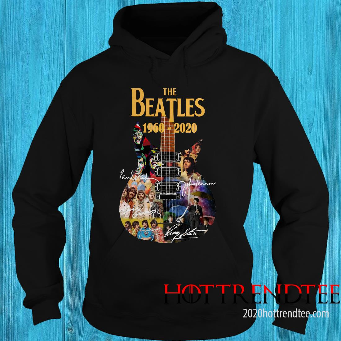 Official The Beatles 1960-2020 Guitar Hoodie