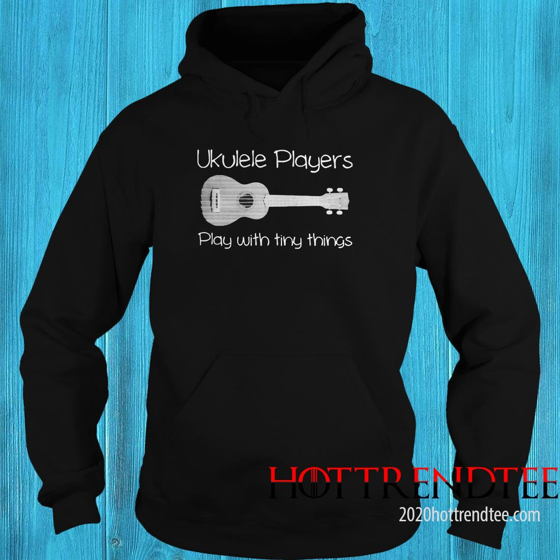 Ukulele Player Play With Tiny Things Hoodie