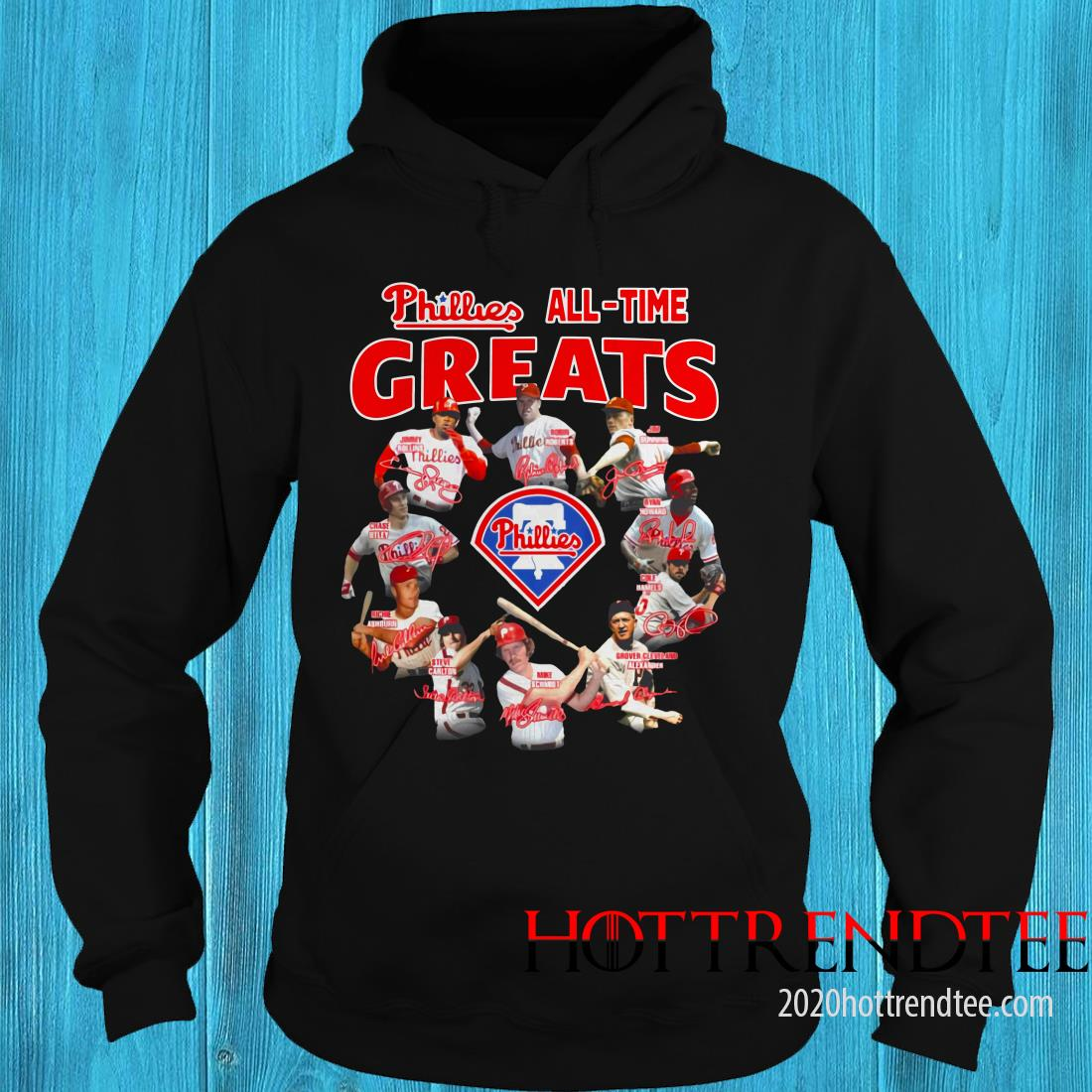 Official Philadelphia Phillies All-time Greats Team Players Signatures Hoodie