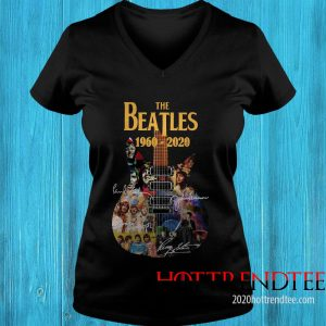 Official The Beatles 1960-2020 Guitar Women's T-Shirt