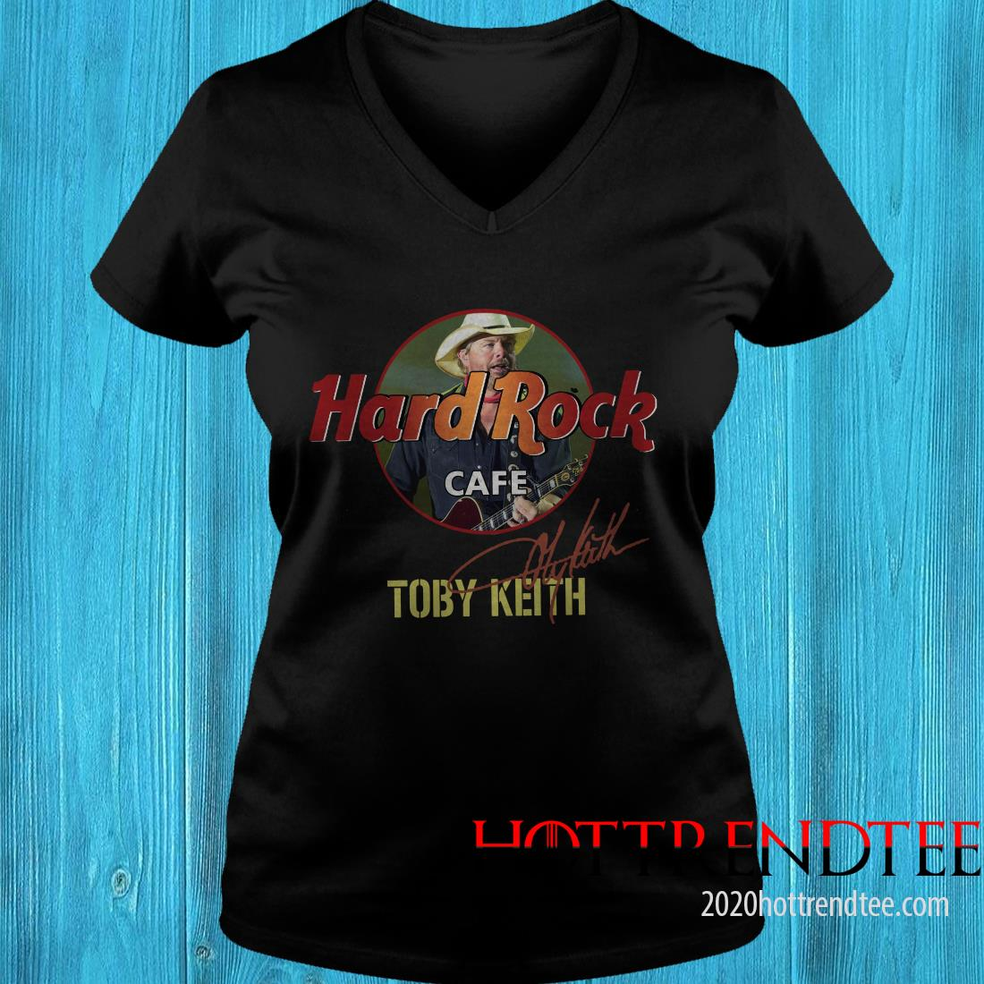 Official Toby Keith Hard Rock Cafe Signature Women's T-Shirt