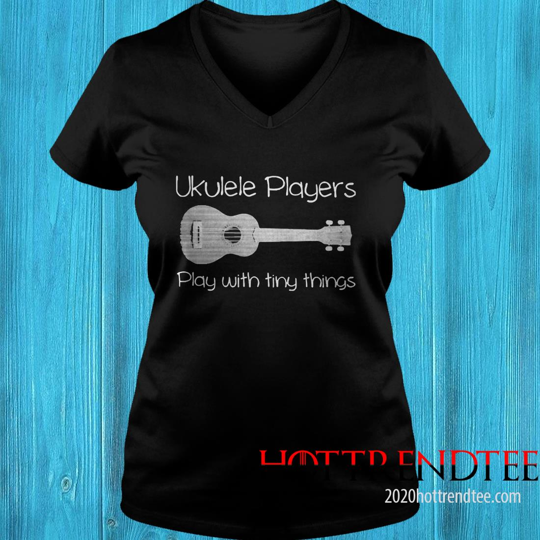Ukulele Player Play With Tiny Things Women's T-Shirt