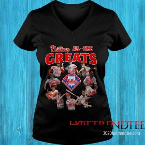 Official Philadelphia Phillies All-time Greats Team Players Signatures Women's T-Shirt
