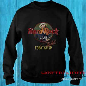Official Toby Keith Hard Rock Cafe Signature Sweatshirt