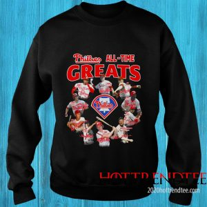 Official Philadelphia Phillies All-time Greats Team Players Signatures Sweatshirt