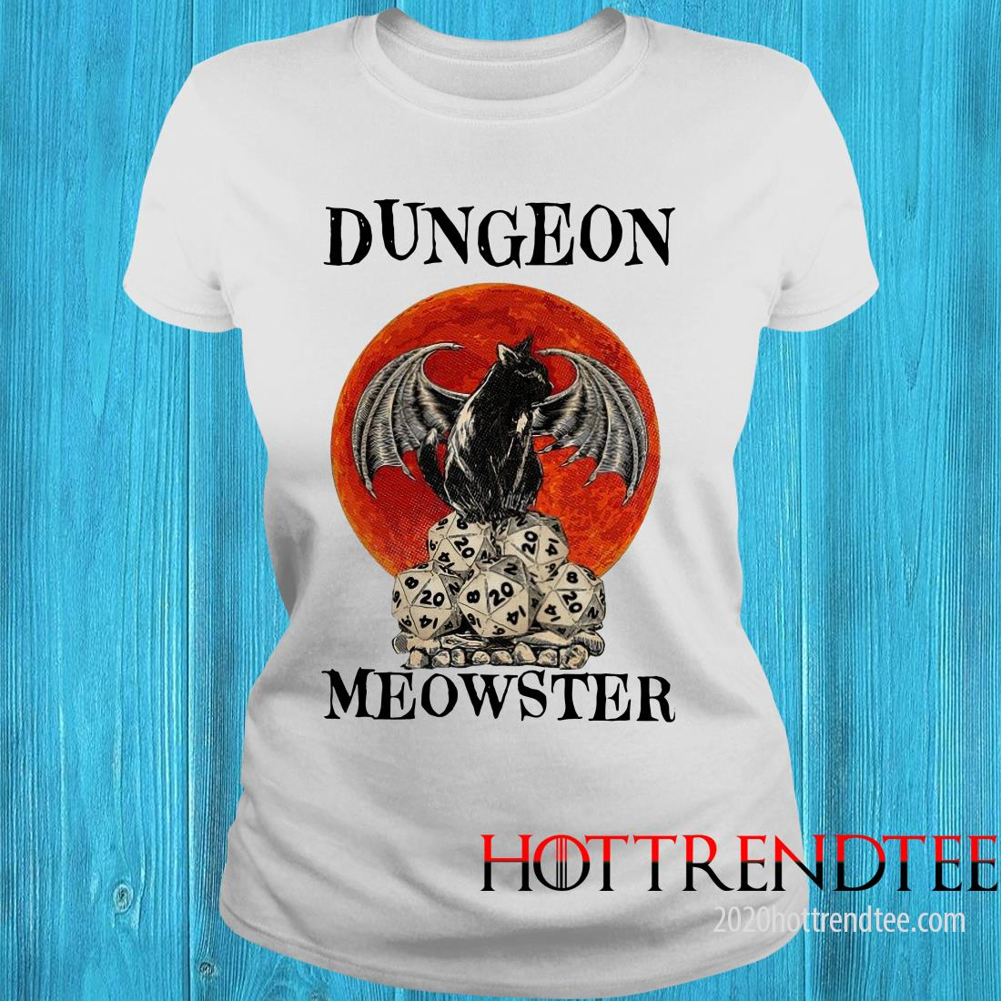 Bat And Black Cat Dungeon Meowster Women's T-Shirt