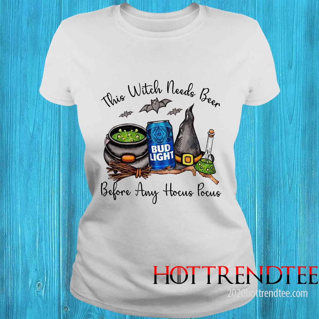 Official Bud Light This Witch Needs Beer Before Any Hocus Pocus Women's T-Shirt