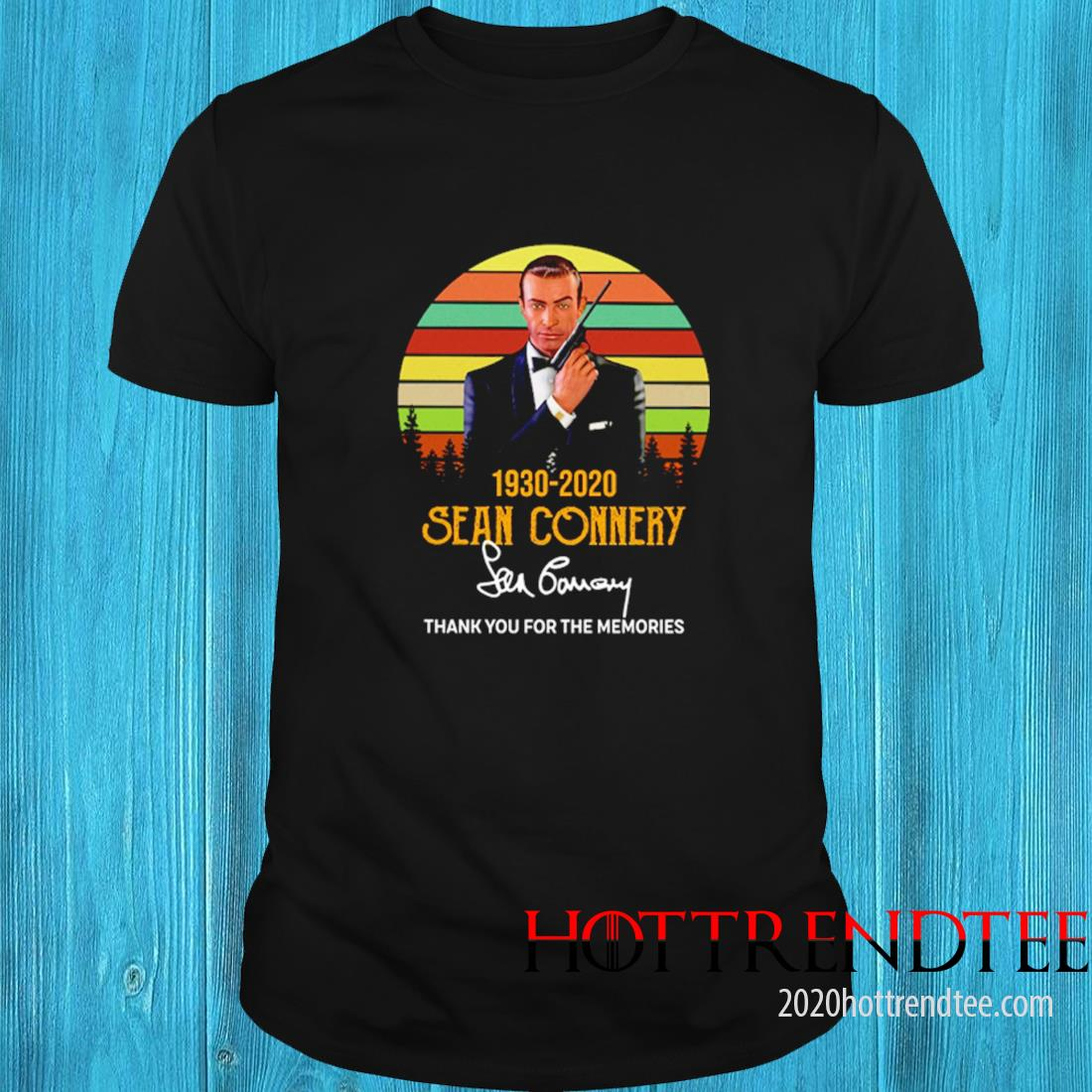 007 Sean Connery 1930 2020 Signatures Thanks For The Memories Vintage Shirt