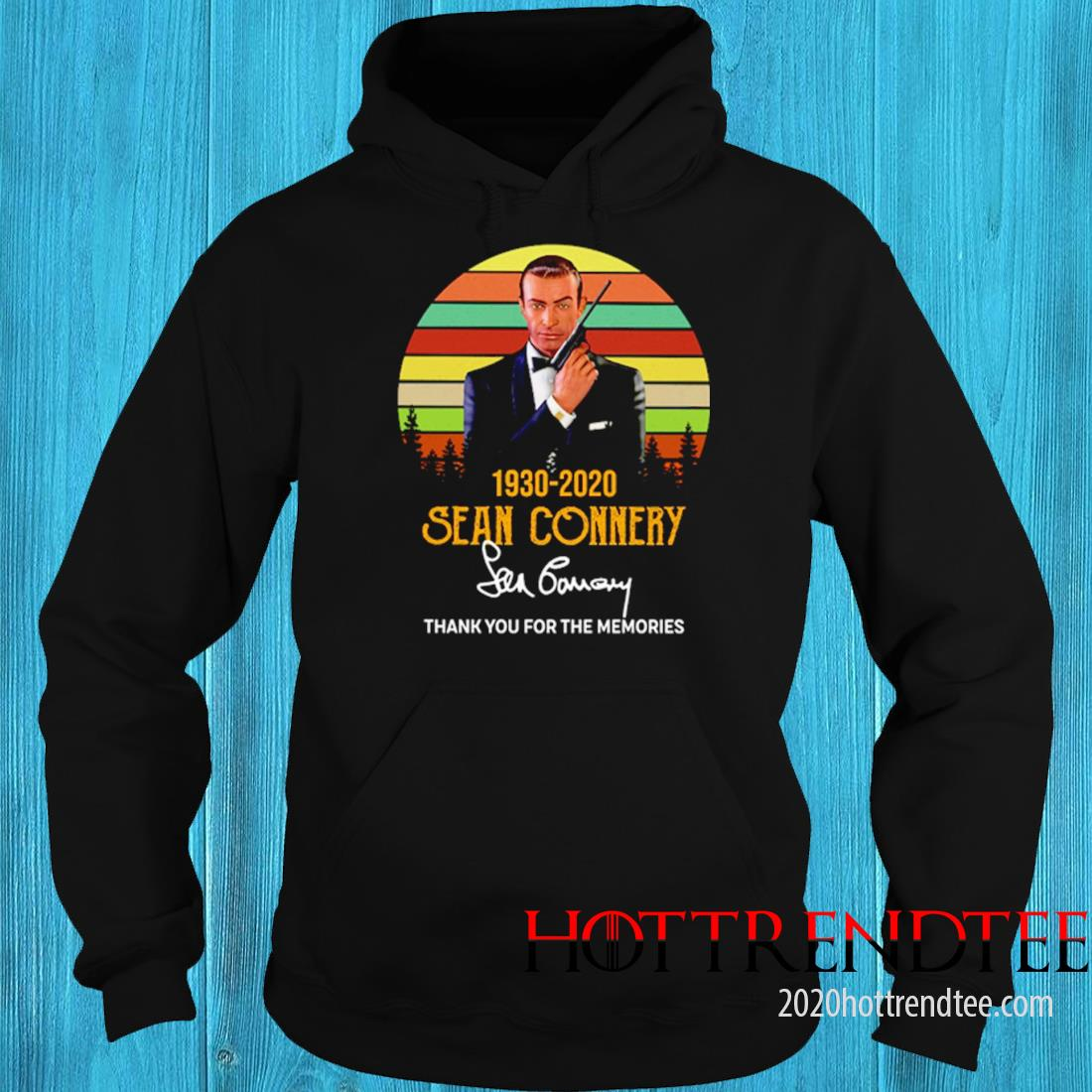 007 Sean Connery 1930 2020 Signatures Thanks For The Memories Vintage Shirt 3