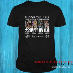ABBA 40 Years Happy New Year 1980 2020 Thank You For Your Music And The Memories Signature Shirt
