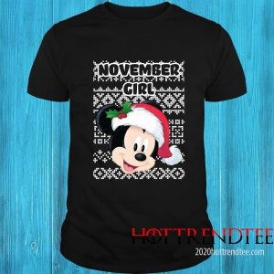 November Girl Mickey Mouse Shirt