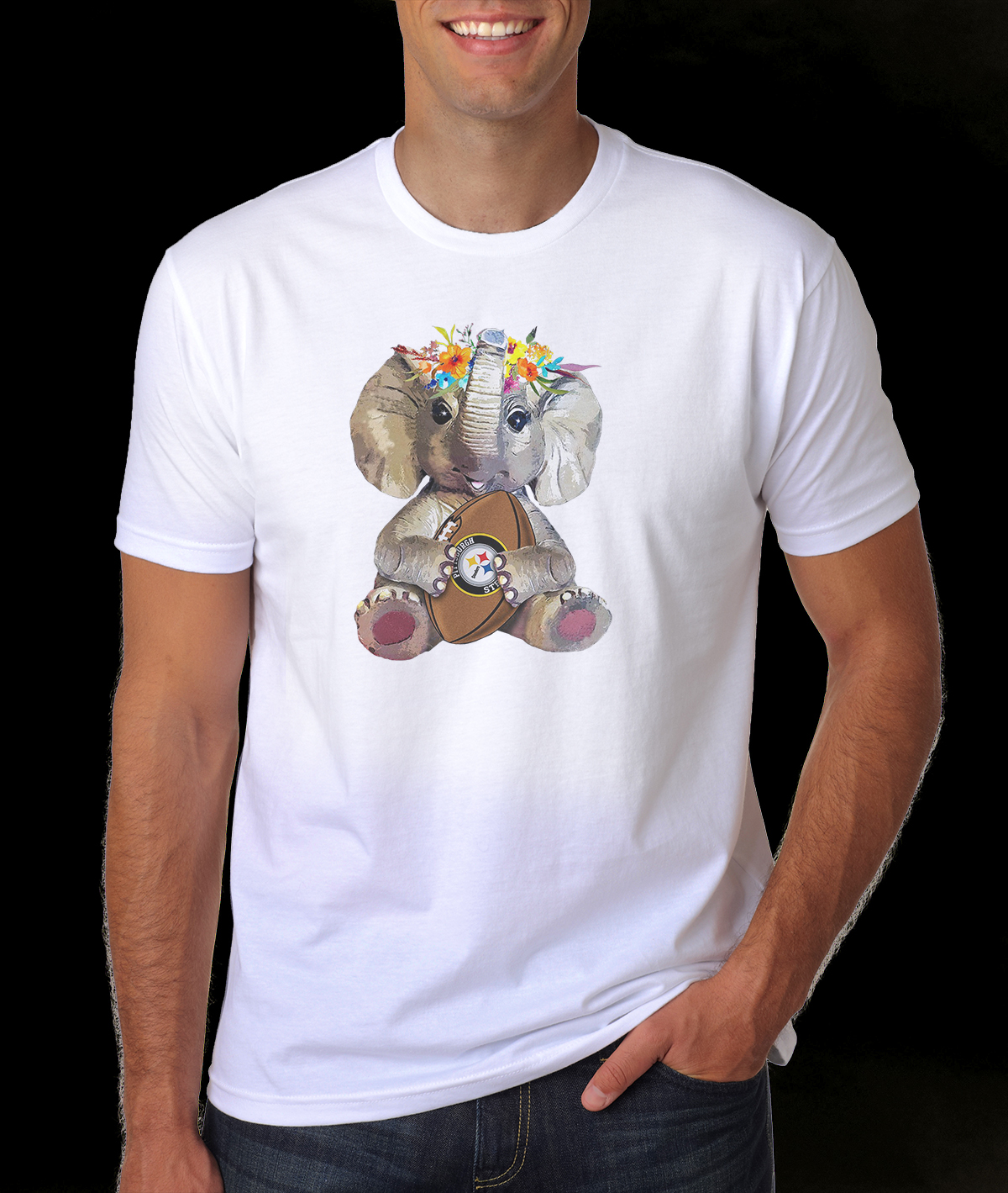 Elephant flower Pittsburgh Steelers shirt