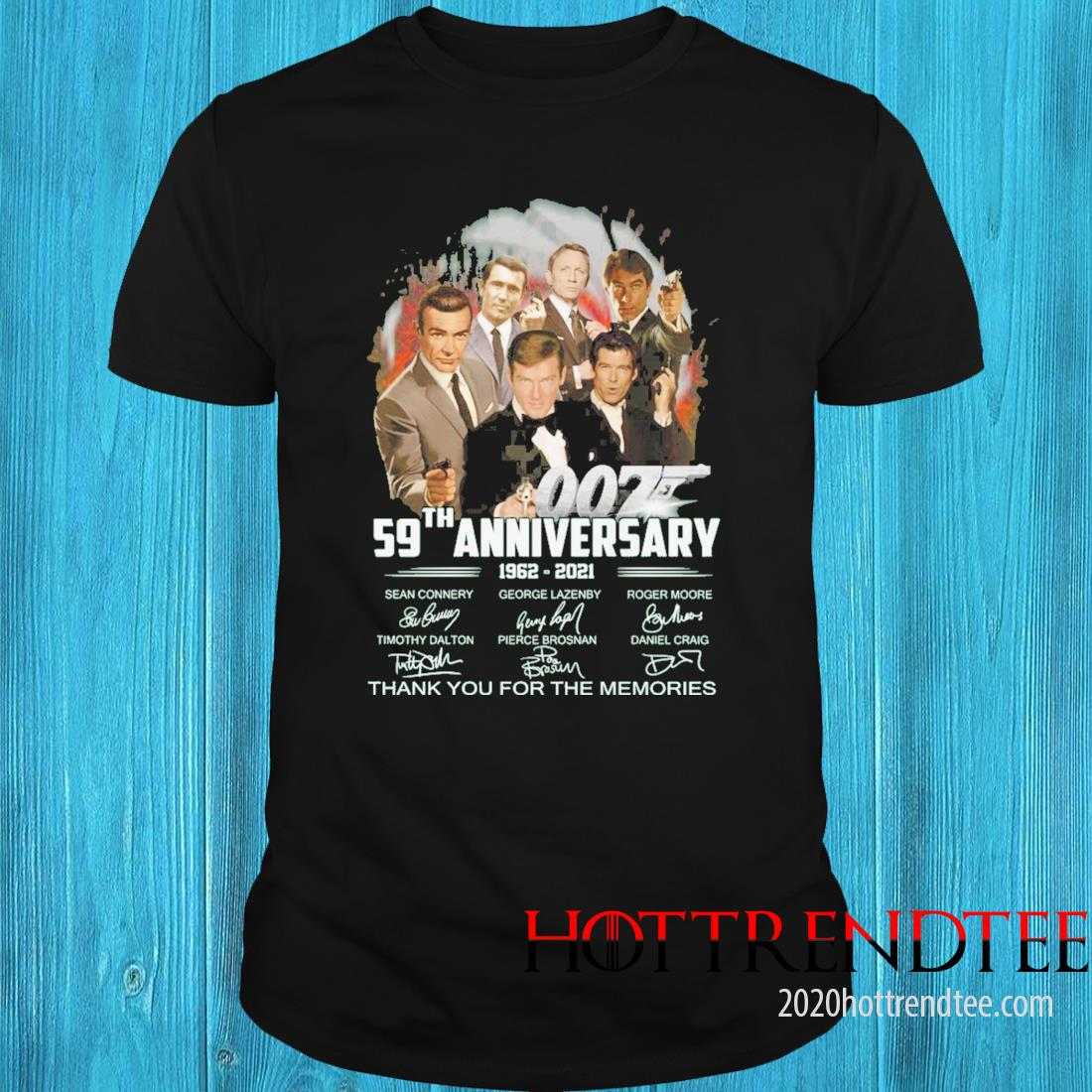 007 59th Anniversary 1962 2021 Signatures Thank You For The Memories Shirt