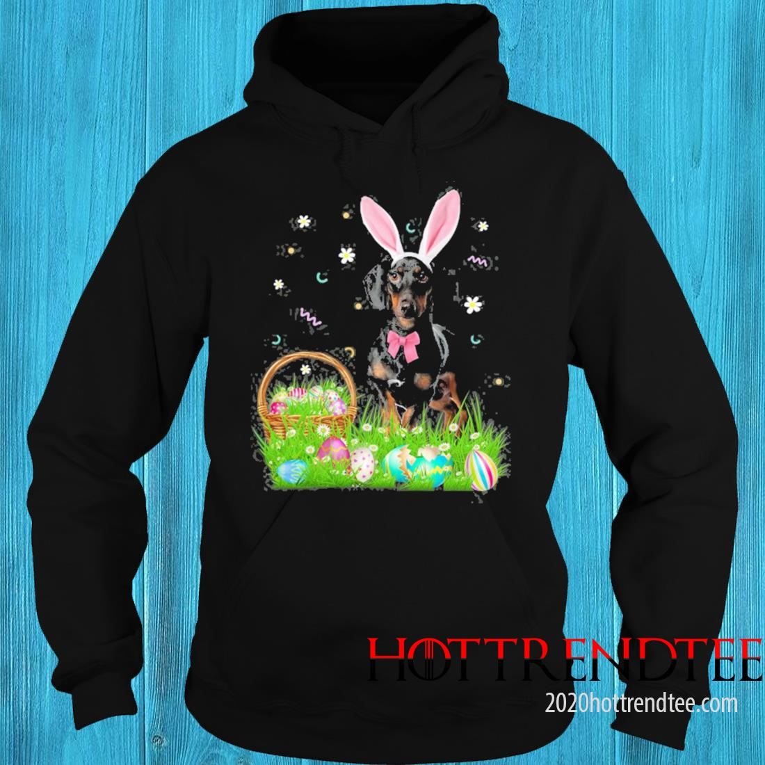 Cute Dachshund Easter Day Bunny Eggs Easter Costume Shirt hoodie