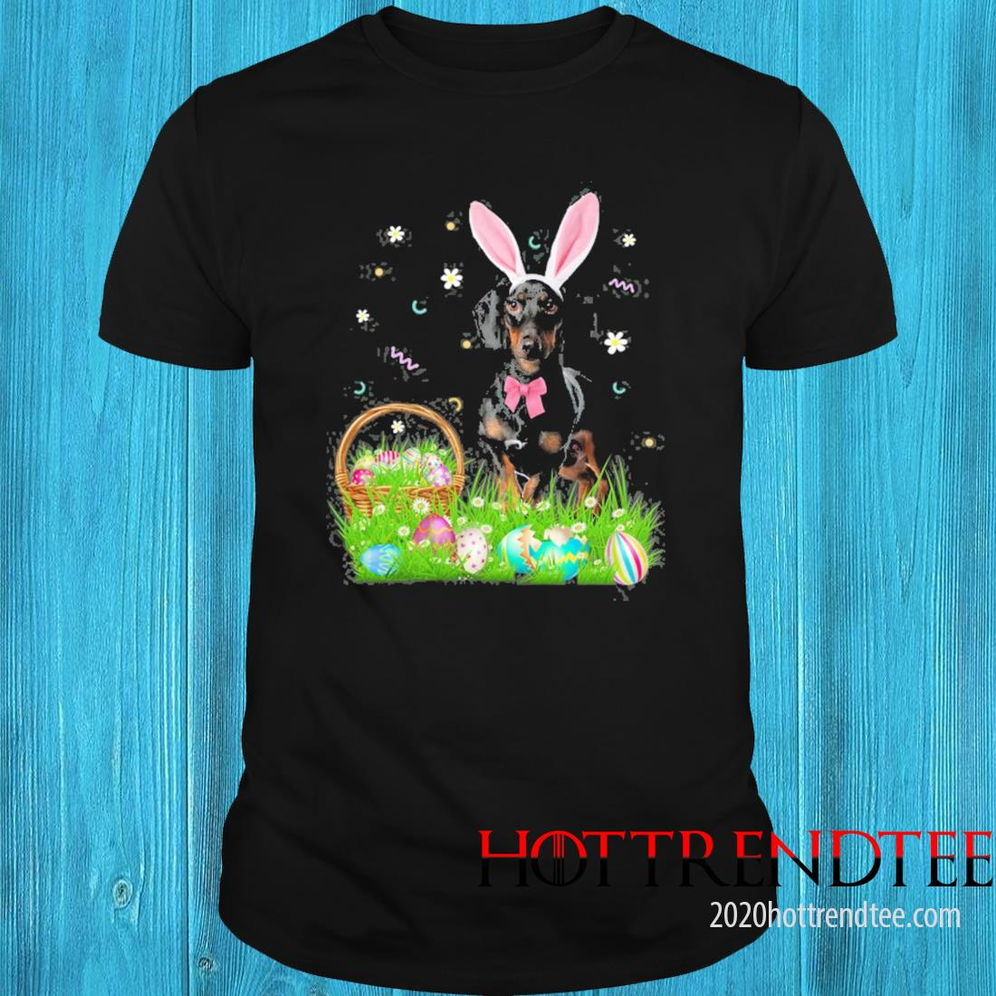 Cute Dachshund Easter Day Bunny Eggs Easter Costume Shirt