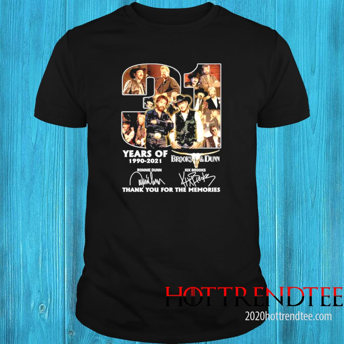 31 Years Of 1990 2021 Brooks And Dunn Thank You For The Memories Signatures Shirt