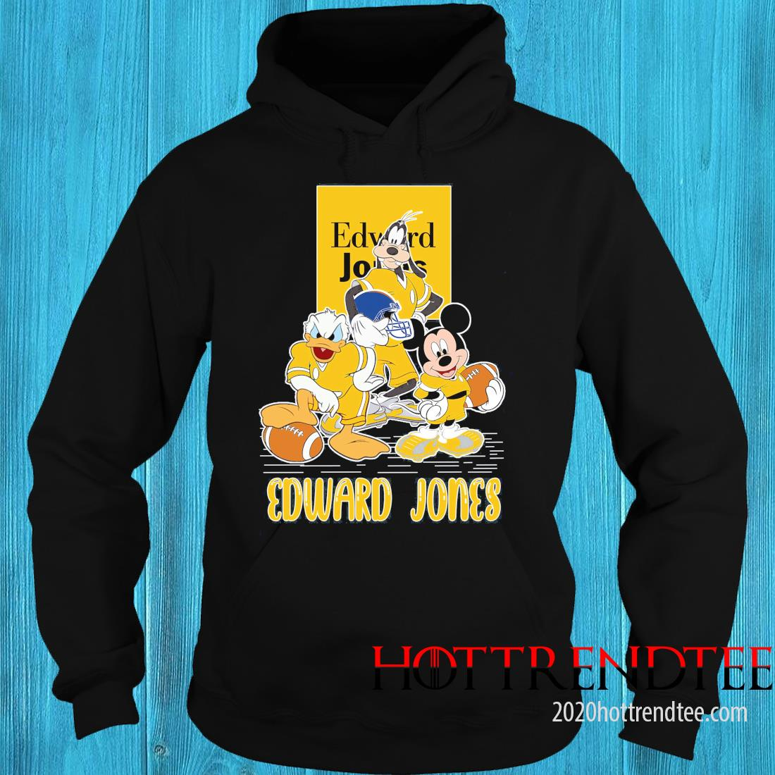 Goofy Donald Duck And Mickey Mouse Football Player Edward Jones Shirt hoodie