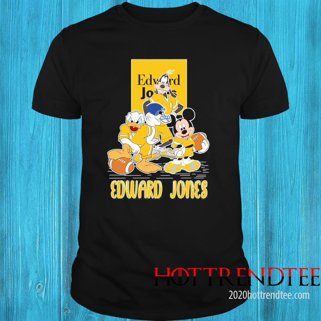 Goofy Donald Duck And Mickey Mouse Football Player Edward Jones Shirt