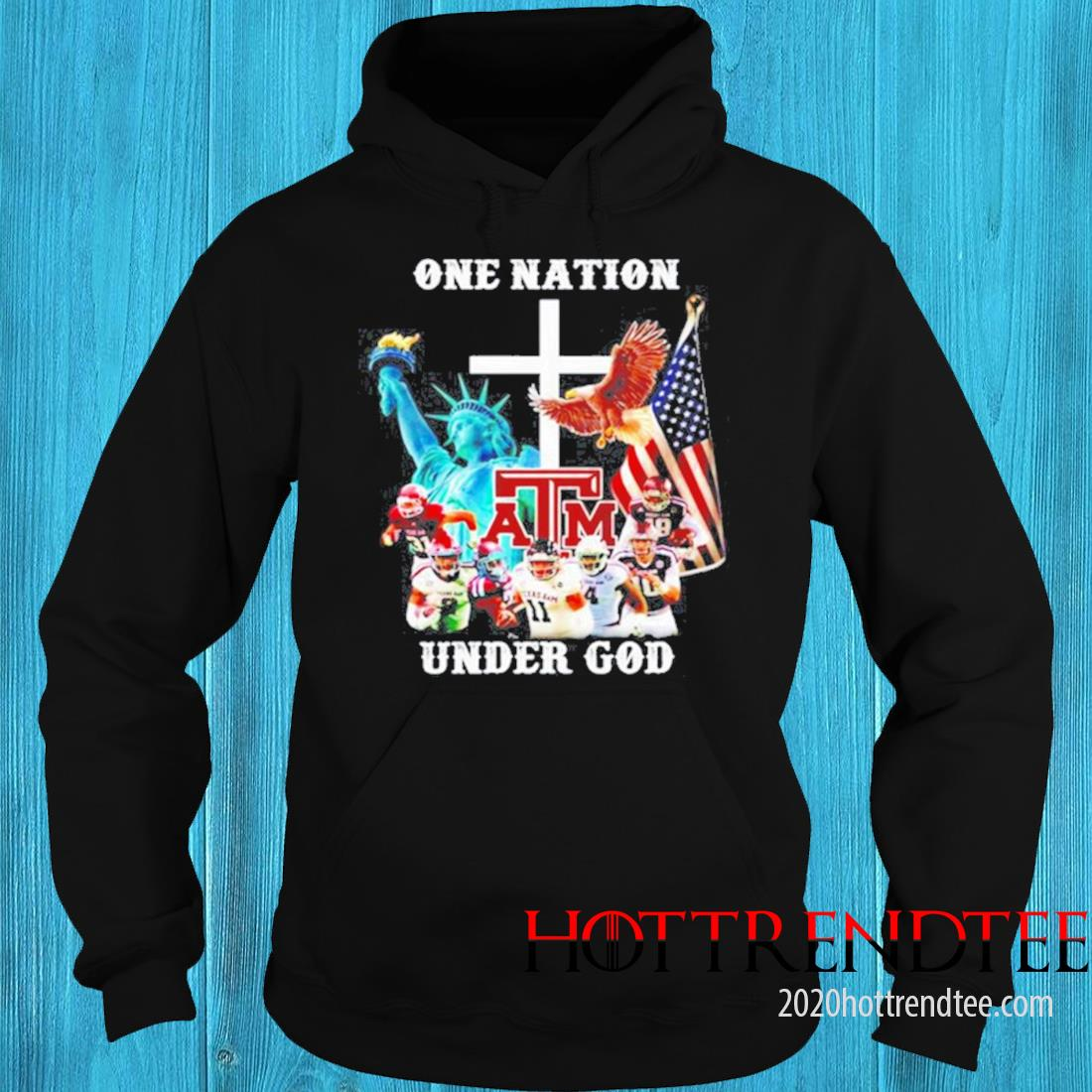 One Nation Texas A&m Under God Shirt hoodie
