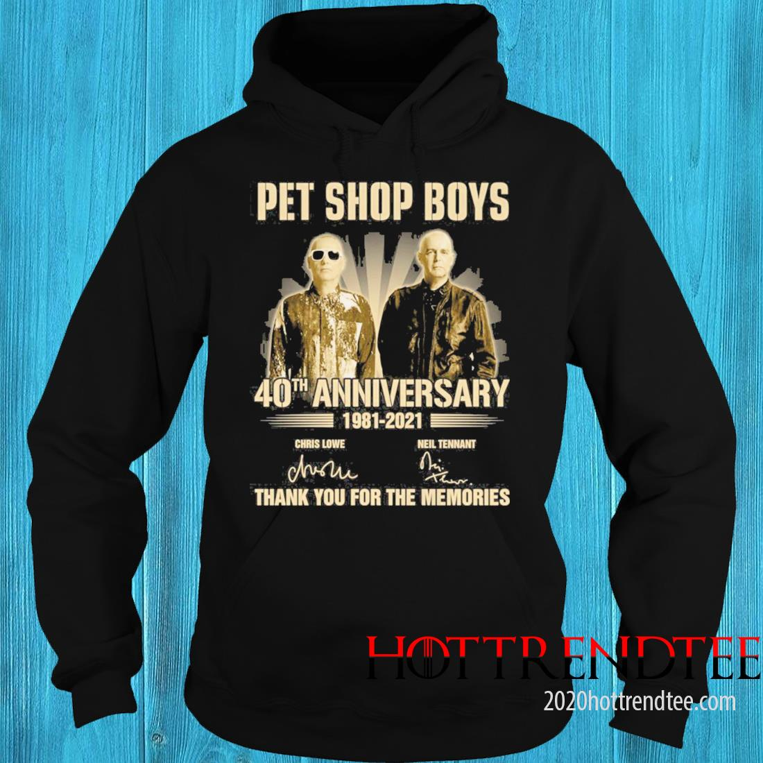 Pet Shop boys 40th Anniversary 1981 2021 Signatures Thank You For The Memories Shirt hoodie