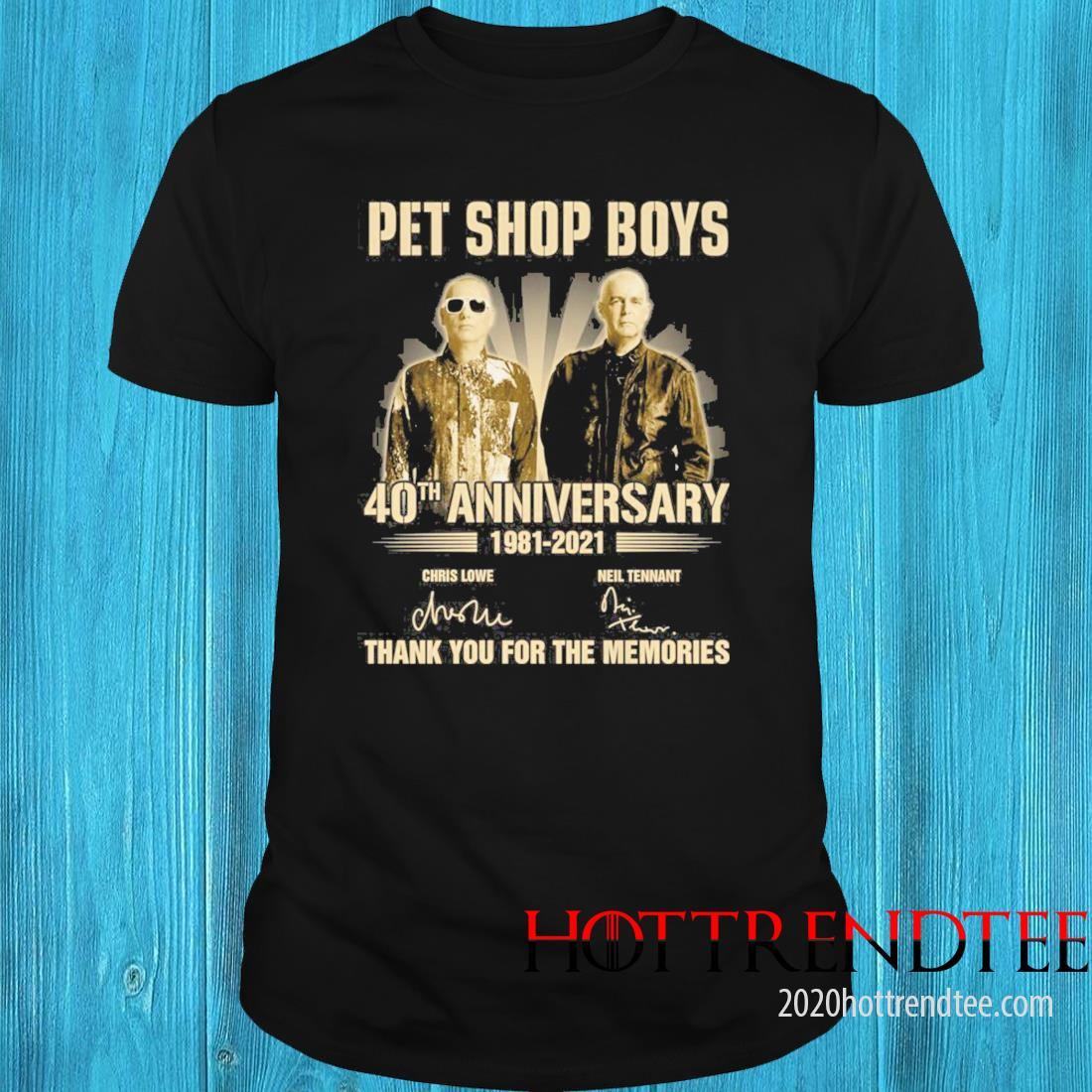 Pet Shop boys 40th Anniversary 1981 2021 Signatures Thank You For The Memories Shirt