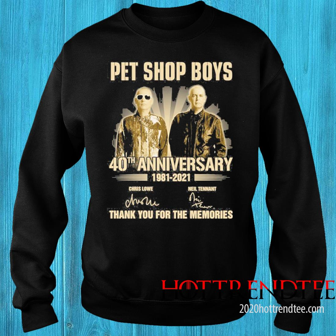 Pet Shop boys 40th Anniversary 1981 2021 Signatures Thank You For The Memories Shirt sweater