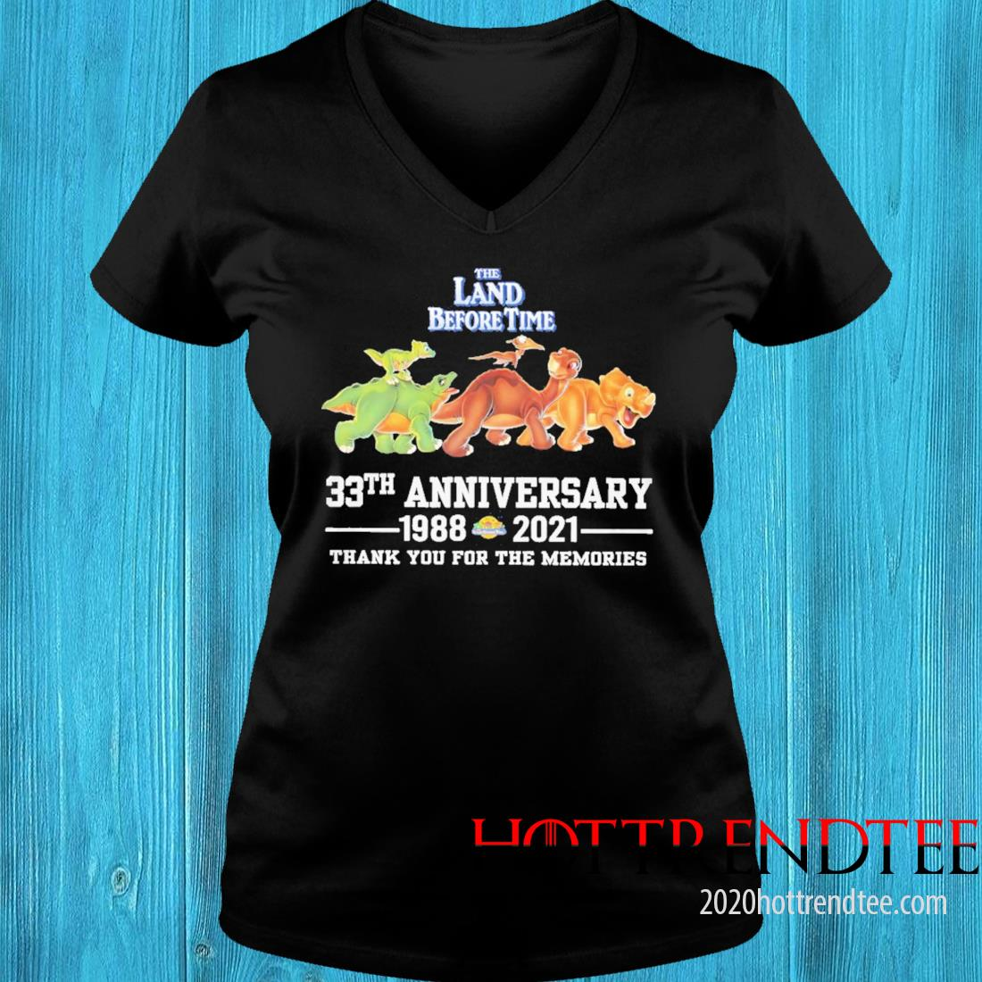 The Land Before Time 33th Anniversary 1988 2021 Thank You For The Memories Shirt v-neck tee